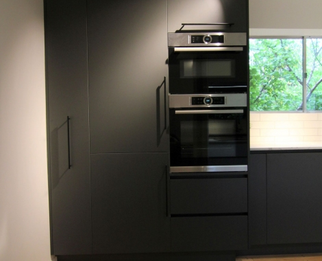 Galley-kitchen-Double wall ovens